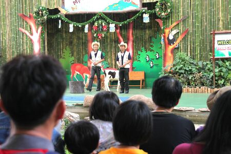 capability: PAK CHONG, KORAT, THAILAND - JANUARY 15 : The unidentified cowboys are in animal capability show and entertainment on January 15, 2012 at Chok Chai Farm, Pak Chong, Korat, Thailand. Editorial
