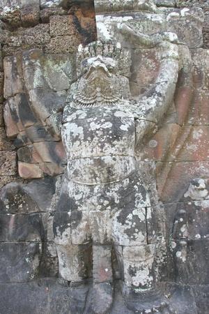 handscraft: Garuda statue in ancient Khmer architecture, Prasat Praeh Khan