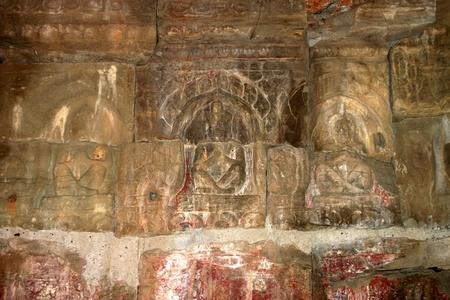 hermits: Hermits statue in ancient Khmer architecture, Prasat Praeh Khan