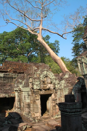 handscraft: Ruin building in ancient Khmer architecture, Prasat Praeh Khan
