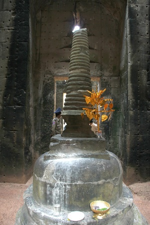 Stupa in ancient Khmer architecture, Prasat Praeh Khan photo