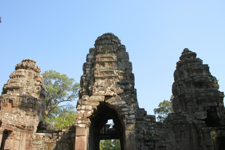 Building in ancient Khmer architecture, Prasat Praeh Khan photo