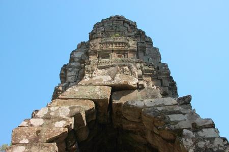Back central building in ancient Khmer architecture, Prasat Praeh Khan photo