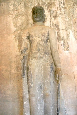 Buddhism statue in Angkor Wat, Siemreap, Khmer Republic. photo