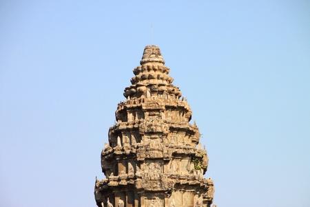 handscraft: Top of Central building of Angkor Wat, Siemreap, Khmer Republic.