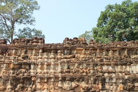 Terrace of the elephants, Angkor Thom, Siemreap photo