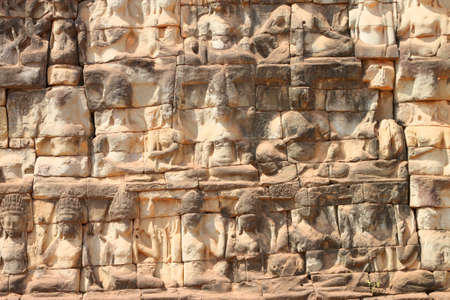 handscraft: Terrace of the elephants, Angkor Thom, Siemreap