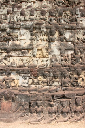 Stone carving in Terrace of the elephants, Angkor Thom, Siemreap Stock Photo - 12638756