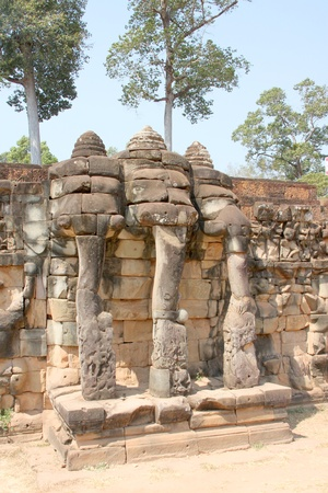 handscraft: Terrace of the elephants, Angkor Thom, Siemreap
