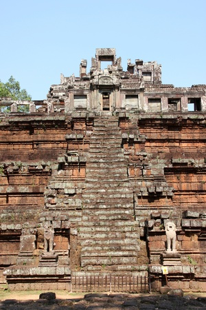 The palace of Phimeanakas in Angkor Thom, Siemreap, Khmer Republic photo