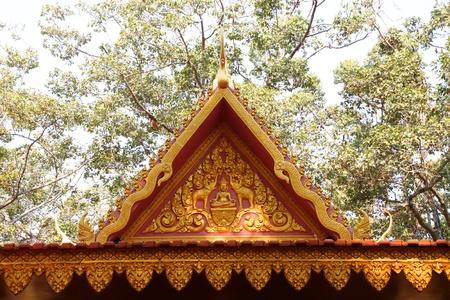 pediment: Beautiful pediment or gable of Buddhist temple