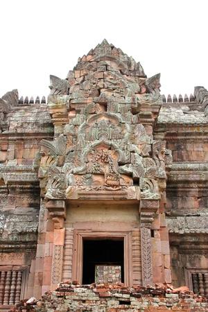 handscraft: Ancient sandstone architecture of Prasat Khao Panom Rung, Buriram, Thailand. Stock Photo
