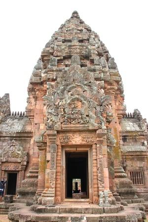 handscraft: Ancient sandstone architecture of Prasat Khao Panom Rung, Buriram, Thailand  Stock Photo