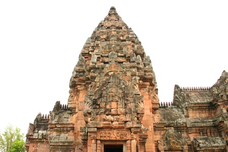 handscraft: Ancient sandstone architecture of Prasat Khao Panom Rung, Buriram, Thailand  Stock Photo