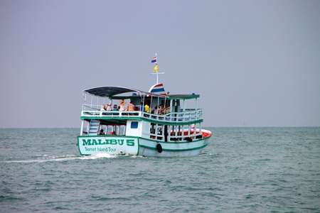 KOH SAMET, RAYONG - MAY 9 : Unidentified tourists are heading to the island on May 9, 2012 at Koh Samet, Rayong, Thailand. Editorial