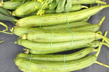 Luffa gourd in piles of fruits and vegetable Stock Photo - 14304281