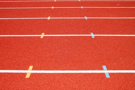 Running tracks for athletic in outdoor stadium photo