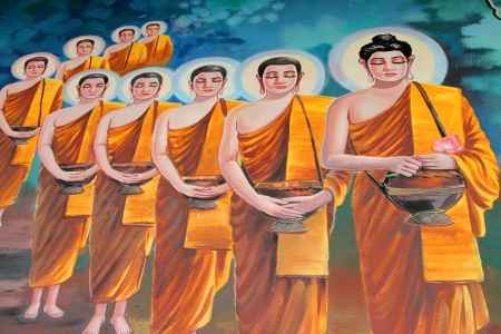 Buddha's biography painting on wall of temple, Wat Kud Sui, Mahasarakham, Thailand Stock Photo - 14628618