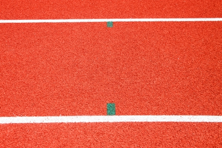 Running tracks of athletics in central public stadium, Mahasarakham, Thailand