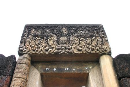lintel: Lintel - art and architecture of Prasat Nang Ram, Korat, Thailand Stock Photo