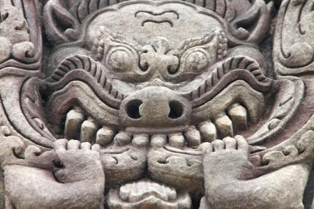 lintel: Texture on lintel - art and architecture of Prasat Nang Ram, Korat, Thailand