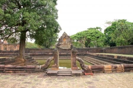 Pond in Prasat Muang Tam, Buriram, Thailand Stock Photo