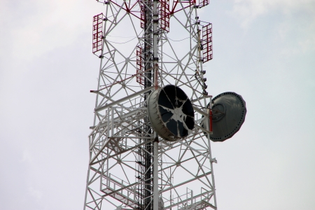 Telecommunication tower and antenna photo