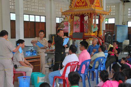 headman: MUANG, MAHASARAKHAM - SEPTEMBER 4 : Unidentified officers are counting votes village headman on September 4, 2012 at Wat Ban Hin Lat, Tha Song Kon, Muang, Mahasarakham, Thailand.