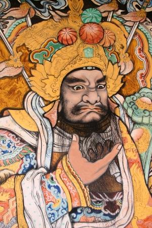 Image au sanctuaire chinois en Payakkaphumphisai, Mahasarakham, Tha�lande.