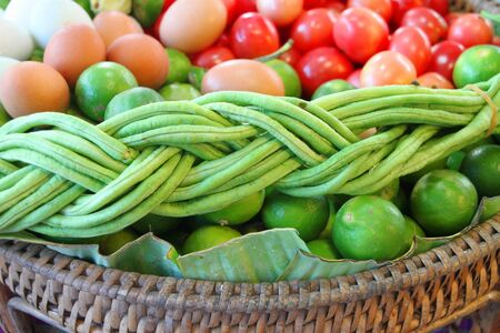 cow pea: Herbs and vegetables decoration