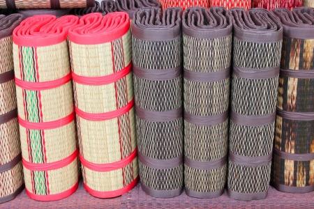 Handmade woven sedge mat Stock Photo - 15516230