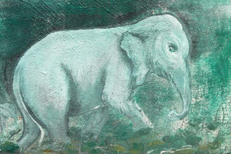 Elephant painting on wall of Buddhist temple Stock Photo - 15546698