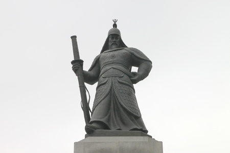 Yi Sun Shin monument, Seoul, South Korea photo