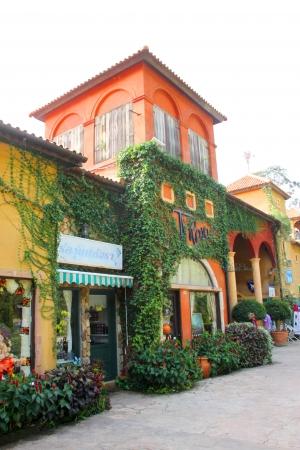 khao: Palio Khao Yai, new Italian style walking street, building, shopping and business center in Korat, Thailand.