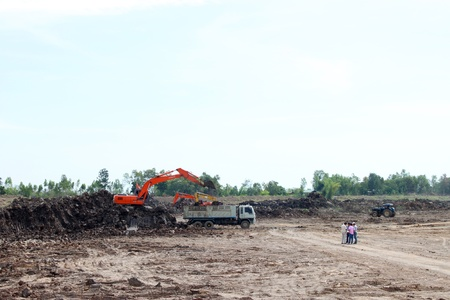 Reservoir construction site public project at Nong Lit-thi, Muang Mahasarakham, Thailand