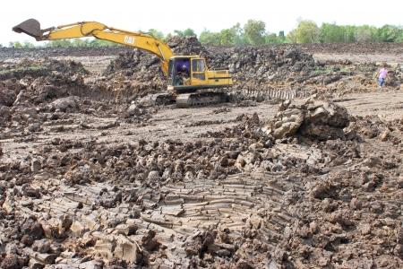 Reservoir construction site public project at Nong Lit-thi, Muang Mahasarakham, Thailand