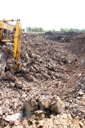 Reservoir construction site public project at Nong Lit-thi, Muang Mahasarakham, Thailand Stock Photo - 16373094