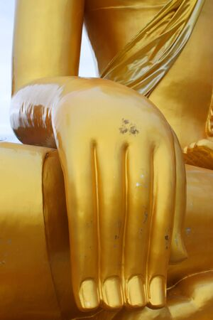 Right hand posture of Phra Buddha Prasitpon, Ban Phai, Khon Khan, Thailand photo