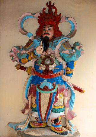 viet nam: God statue at Thien Mu Pagoda, Hue, Vietnam Stock Photo