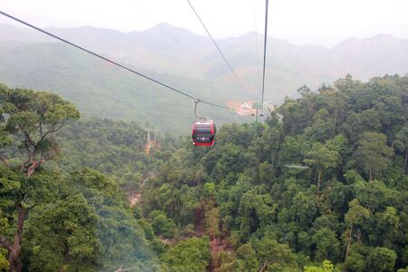 View from cable cab of Bana hills mountain resort on DECEMBER 9, 2012 at Da Nang, Central Vietnam.