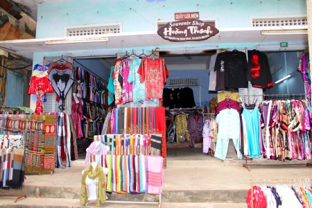 communual: Souvenirs, shopping and trading center on walking street and cycling of world heritage old town on December 8, 2012 at Hoi An, Vietnam. So wonderful with old aged traditionally kept cultural activities, habits and customs, Hoai An town is now a wonderful