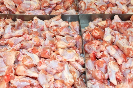 Pile of chicken in local supermarket of Thailand Stock Photo - 17100049