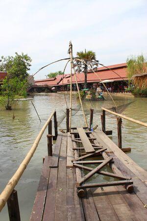 ayothaya: AYUTTHAYA, THAILAND - JANUARY 6 : Unidentified tourists are traveling to Ayothaya Floating Market on January 6, 2013 at Ayutthaya, Thailand. Editorial