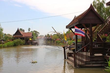 Ayothaya Floating Market on January 6, 2013 at Ayutthaya, Thailand. Stock Photo - 17356147