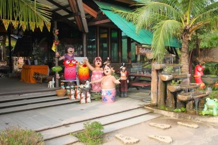 korat: Welcome entrance on October 14, 2012 at Pak Chong Floating Market, Korat, Thailand.