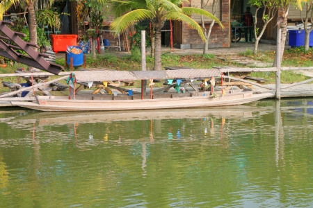 Wooden boat on October 14, 2012 at Pak Chong Floating Market, Korat, Thailand. Stock Photo - 17712855