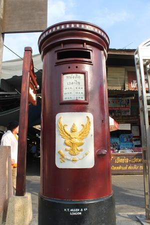 Old mailbox in 100 years market on January 6, 2013 at old market by Tha Chin river(Talad Sam Chuk), Sam Chuk, Suphan Buri, Thailand. Stock Photo - 18114796