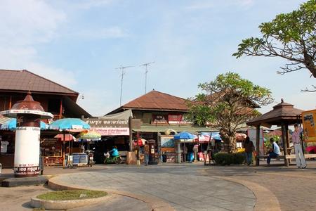 100 years market on January 6, 2013 at old market by Tha Chin river(Talad Sam Chuk), Sam Chuk, Suphan Buri, Thailand.