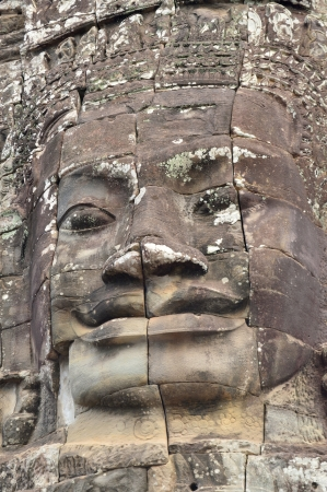 prasat bayon: Stone carving of classical Khmer construction at The Bayon Stock Photo