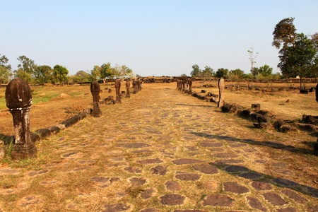 handscraft: Causeway to classical Lao P.D.R. construction at Prasat Vat Phou